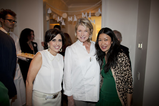 Me, Martha, and Kate Berry, style director of Martha Stewart Weddings