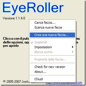 EyeRoller Crea una nuova faccia