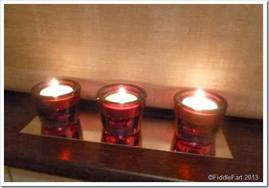 Dunelm reg glass tea light holders