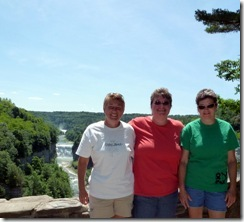 Syl, Gin and Pam at Inspiration Point in Letchworth