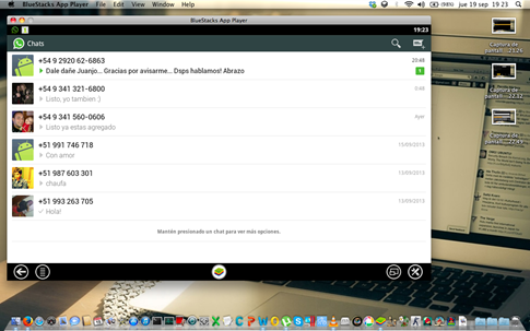 WhatsApp en Bluestacks