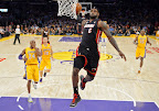 lebron james nba 130117 mia at lal 04 Boston Outlasts Miami in 2nd OT. LeBron Debuts Suede X PE!