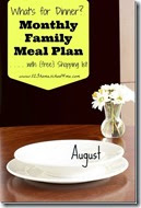 Meal Planner - August