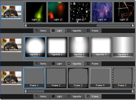 XnRetro effeti retro, luce, cornice e vignetta