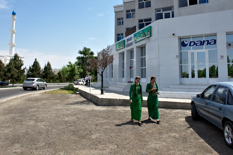 The turkmen school uniforms.