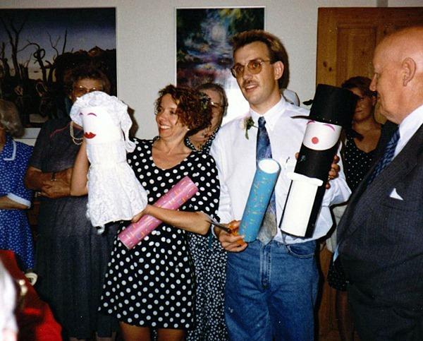 Nina og Michael - bryllupsdag 1992