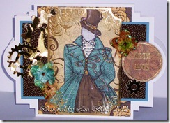 Steampunk Blue Lady