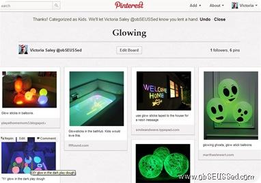 Pinterest Glow Board