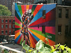 A public art installation by Kobra seen from the High Line.