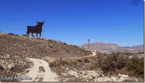 Toro de Osborne en la sierra de la Pedrera - Alicante