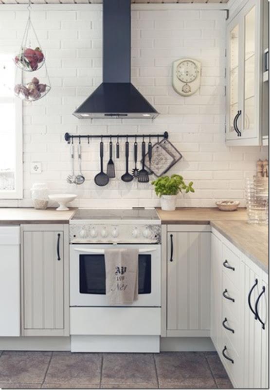 shabby chic & faidate - case e interni - Cucina E Soggiorno Insieme Ikea