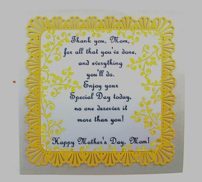 Yellow Mother's Day Card1