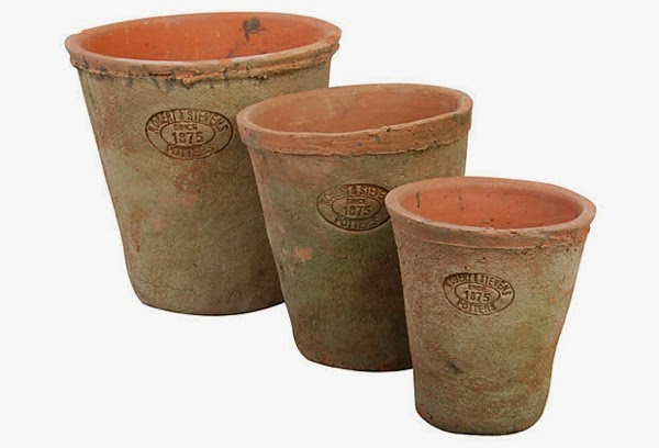 Aged terracotta planters one kings lane