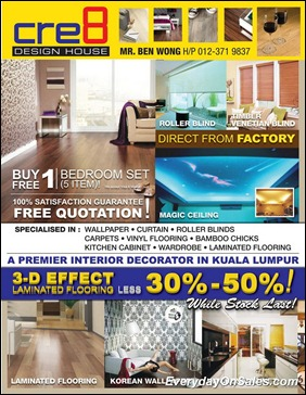 Cre8 Design House Laminated Flooring Promotions 2011-EverydayOnSales-Warehouse-Sale-Promotion-Deal-Discount