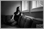 April 28, 2008. Chapel Hill, NC.<br /> Sarah Dessen, author of young adult fiction, in her home in Chapel Hill, NC.