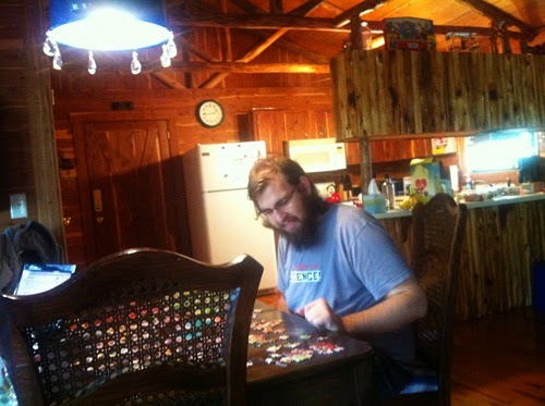 Paul Working on His Puzzle