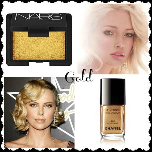 maquillaje dorado para fin de año