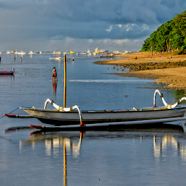 Parked by Ferdinand Ludo - Transportation Boats ( bali, indonesia, beach, sanul, early morning )
