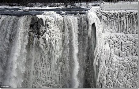 Poze Cascada Niagara inghetata