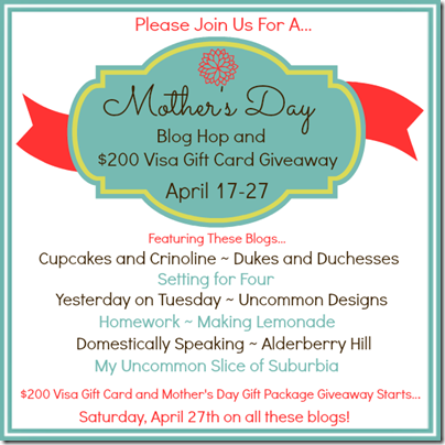 Mother's Day Blog Hop 600 x 600
