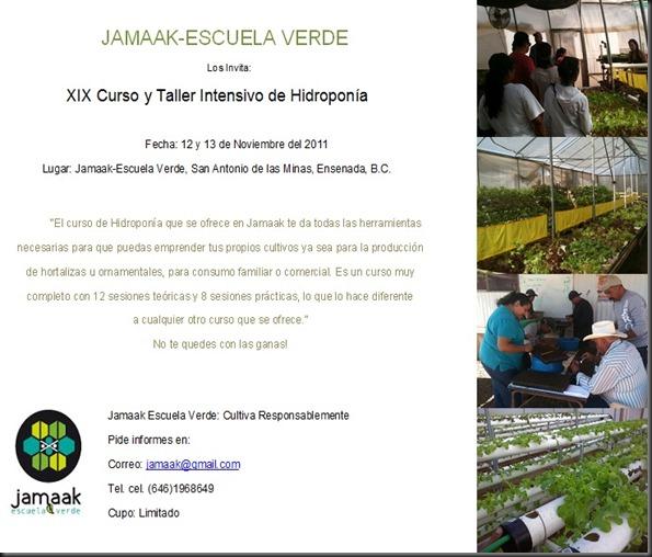 Invitacion XIX Curso de Hidroponia
