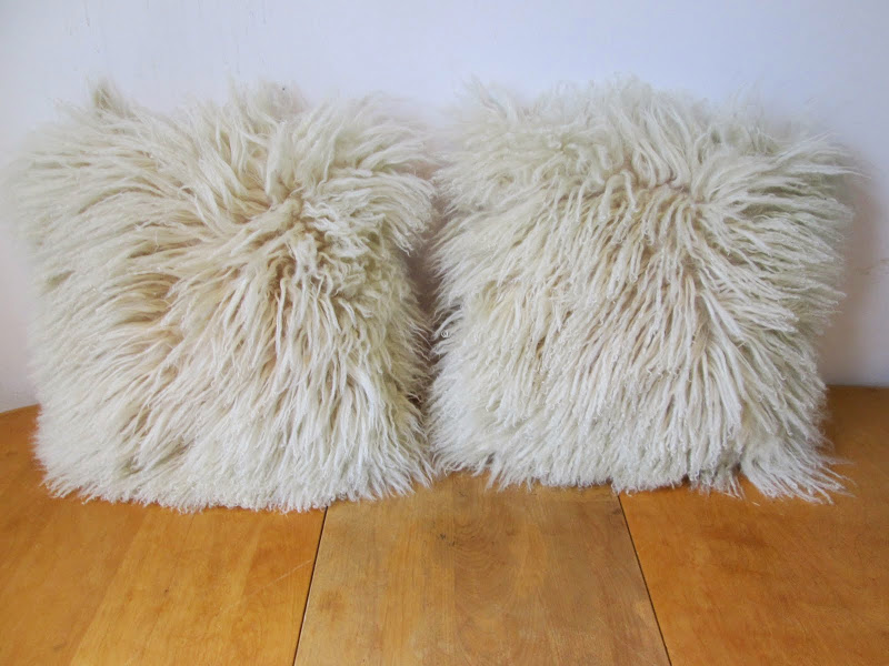 Mongolian Lamb Throw Pillows