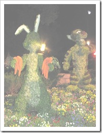 Florida vacation Epcot topiary Rabbit and Tigger