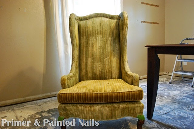 Tall Wingbacks Paint Fail - Primer & Painted Nails (1)
