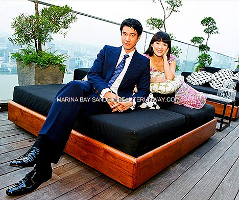 WANG LEE HOM ZHANG ZIYI MY LUCKY STARS HOLLYWOOD BLOCKBUSTER FILM ROMANTIC COMEDY MOVIE MARINA BAY SANDS SINGAPORE Crouching Tiger Hidden Dragon Rush Hour 2 FAMOUS DIRECTOR DENNIE GORDON SkyPark Observation Deck 57th Floor