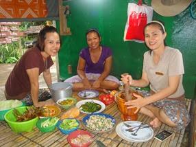 Ann, Moh and Dedee at Thanakha Spa