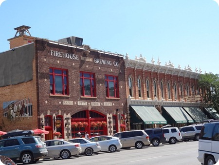 Left: 1915 City Fire Deartment Building.  Right: 1886 Clower Building