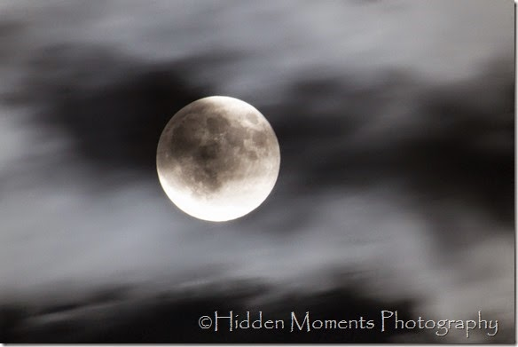 Super Moon and clouds 9-9-14