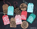 Persia Lou - Hand Lettered Tags