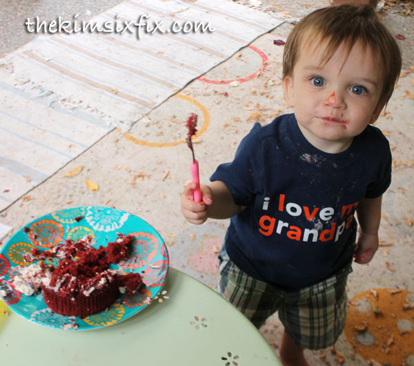 Baby with cake