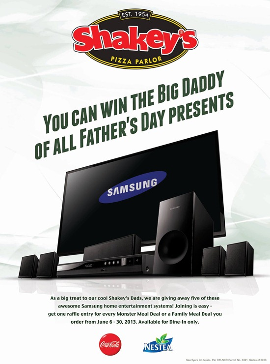 Shakeys Father's Day
