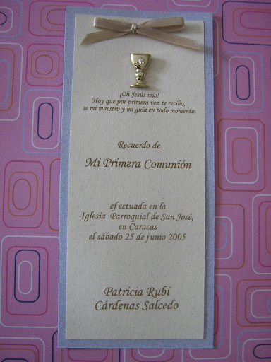 tarjetas de recuerdo para primera comunion