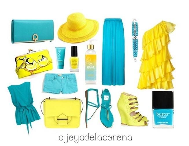 azul y amarillo