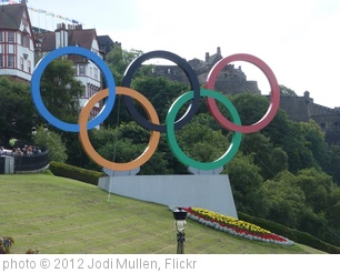 'Edinburgh Olympic Rings London 2012' photo (c) 2012, Jodi Mullen - license: http://creativecommons.org/licenses/by/2.0/