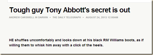 Tough guy Tony Abbott's secret is out - thetelegraph.com.au