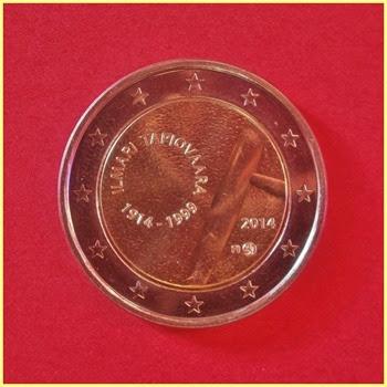 2 Euros Finlandia 2014 Ilmari Tapiovaara