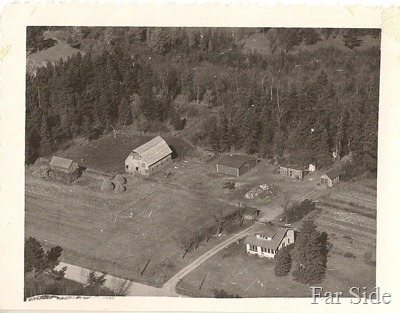 arial photo of the Farm unknown year