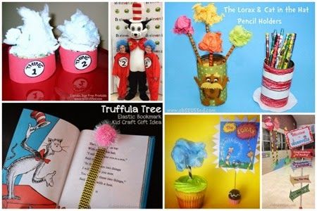 Dr. Seuss Cupcakes Truffula Thing 1 Signs obSEUSSed