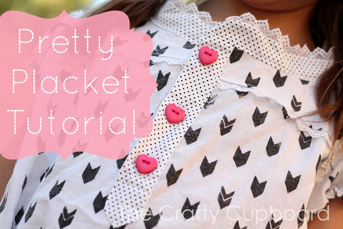 Heart Buttons and dot placket