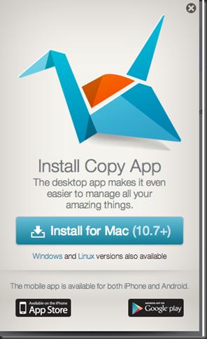 Install copy app