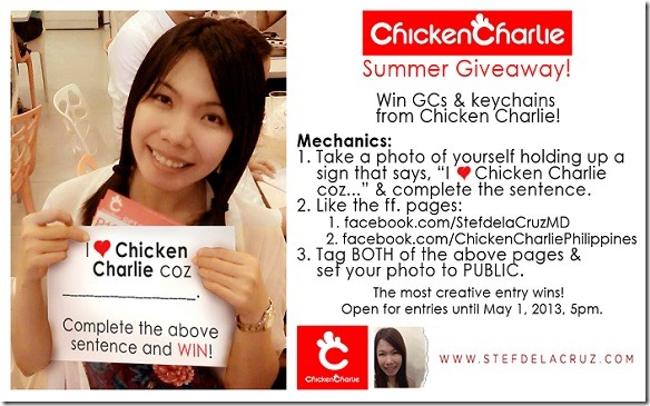 Chicken Charlie Summer Giveaway