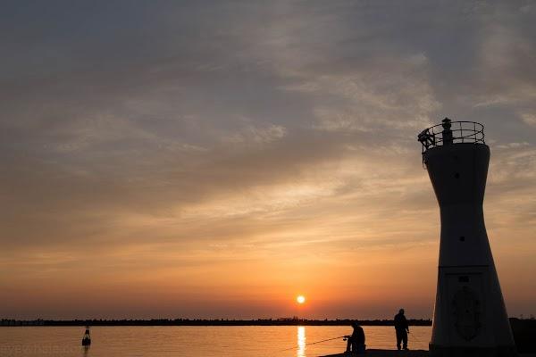 金沢港の夕焼け