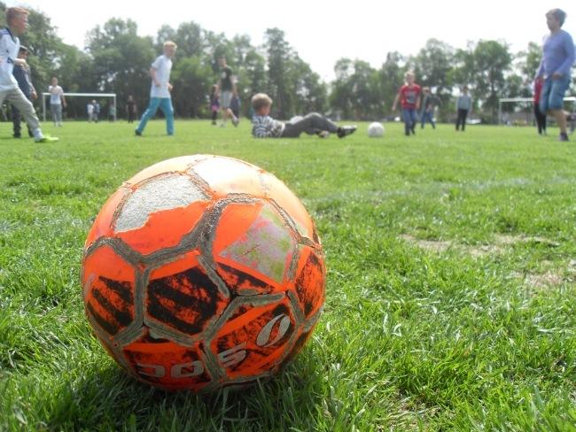 Drenge på græs