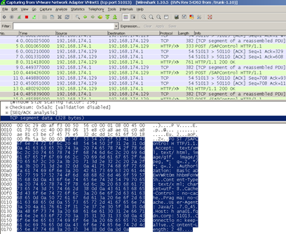 HANA Logon Wireshark trace