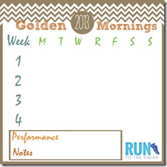 Golden Morning Tracking Sheet