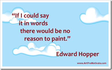 artist quote of Edward Hopper